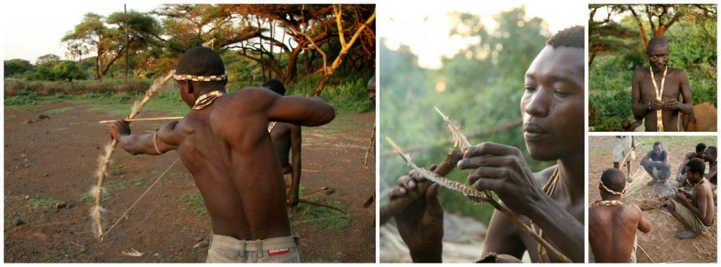 fabrication des flèches - hadzabé - tanzanie