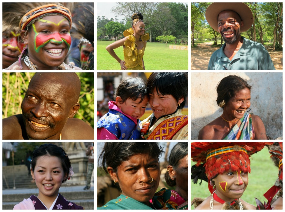 smile around the world